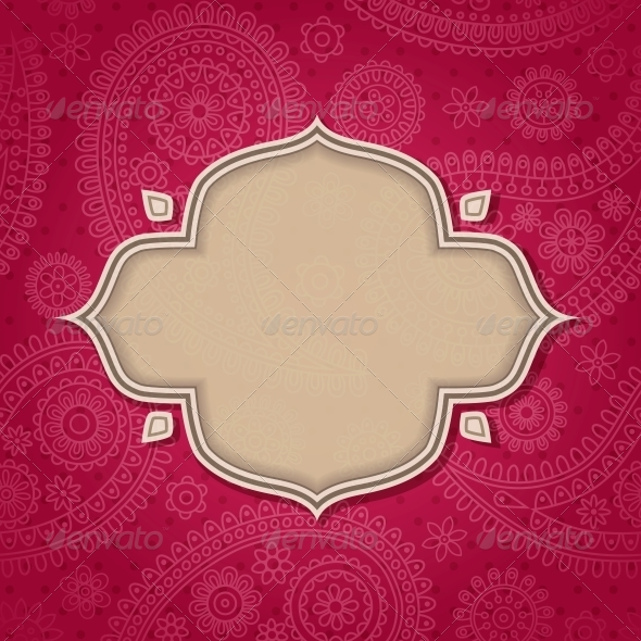 GraphicRiver Frame in the Indian Style 4053307