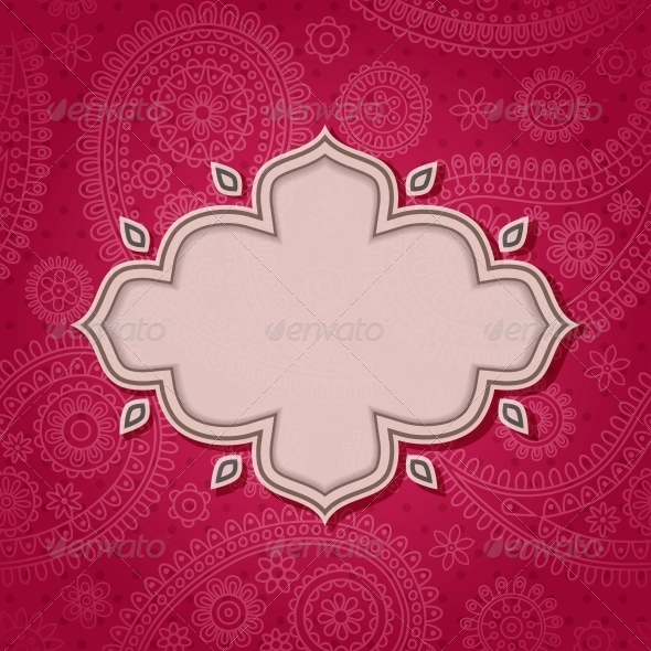 GraphicRiver Frame in the Indian Style 4053391
