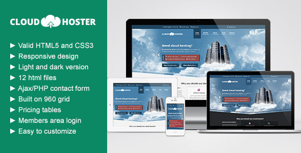 ThemeForest Cloud Hoster Responsive Hosting Company Theme 3913449