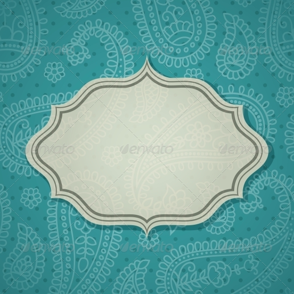 GraphicRiver Frame in the Indian Style 4053393