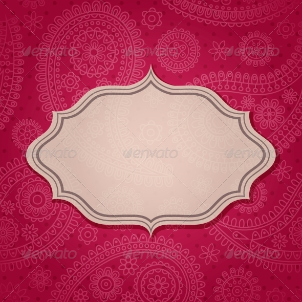 GraphicRiver Frame in the Indian Style 4053395