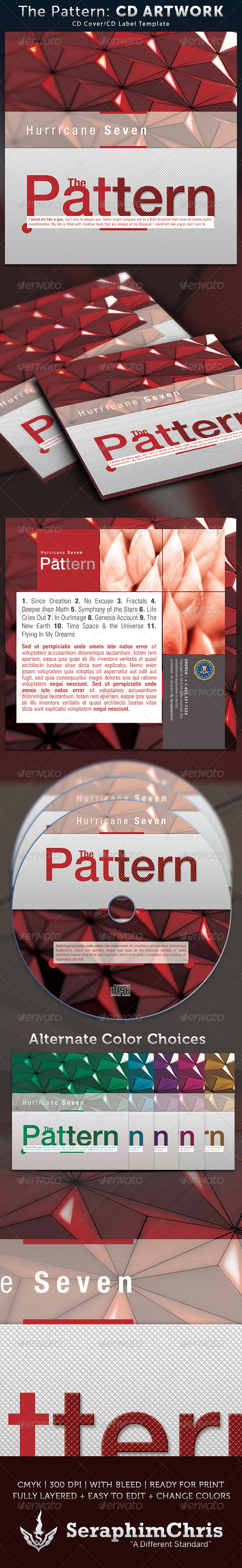 GraphicRiver The Pattern CD Cover Artwork Template 4053452