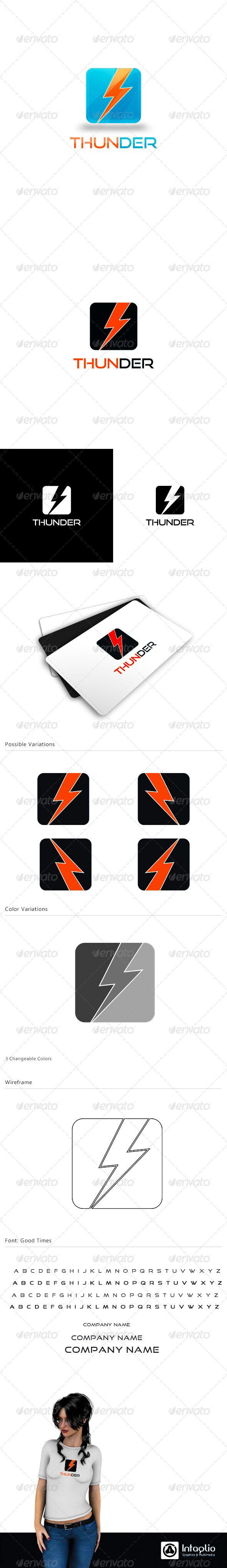Creative Logo - Thunder - Symbols Logo Templates