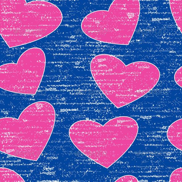 Pink Grunge Heart Symbol