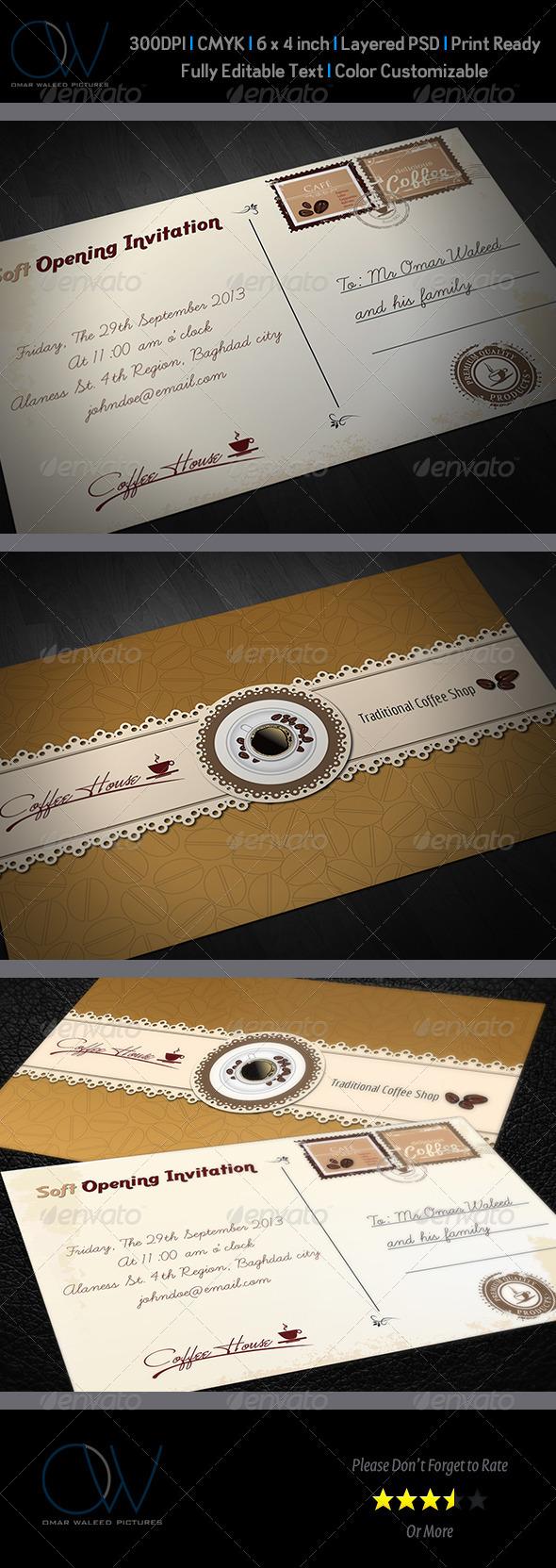 GraphicRiver Cafe Invitation Card Vol.2 3946438