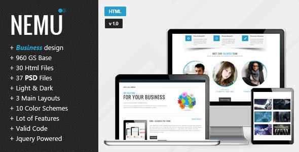 ThemeForest Nemu Responsive HTML5 Template 4045441