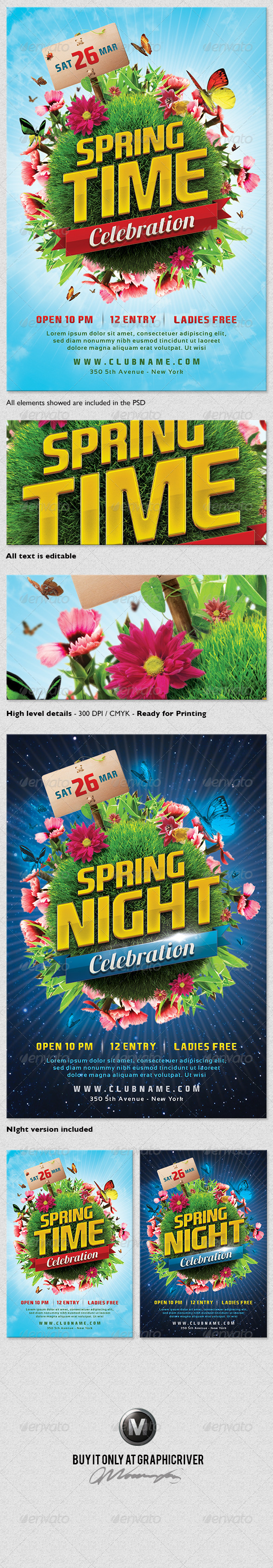 GraphicRiver Spring Celebration Flyer Template 4054804