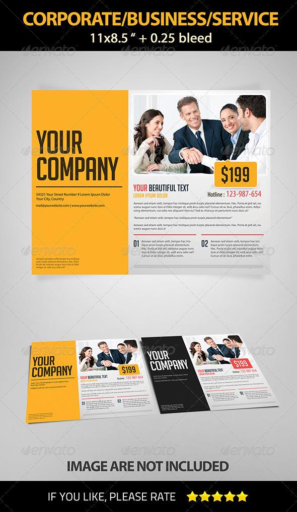 GraphicRiver Landscape Corporate Business Service Flyer 4055158