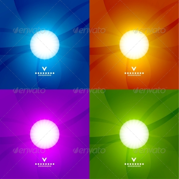 Set of Colourful Shiny Design Templates