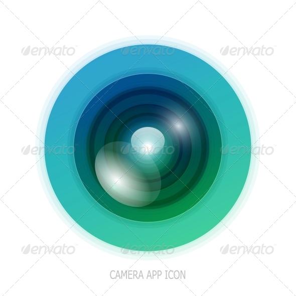 GraphicRiver Colourful Camera App Icon 4055454