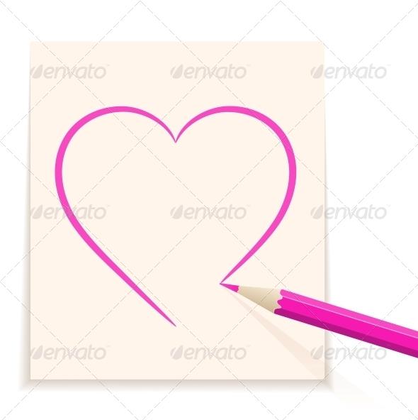 GraphicRiver Hand drawn heart 4055612