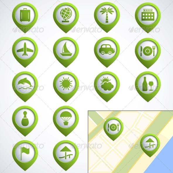 GraphicRiver Travel web icons 4055670