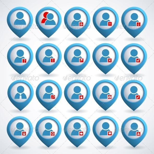 GraphicRiver User icons set 4055683