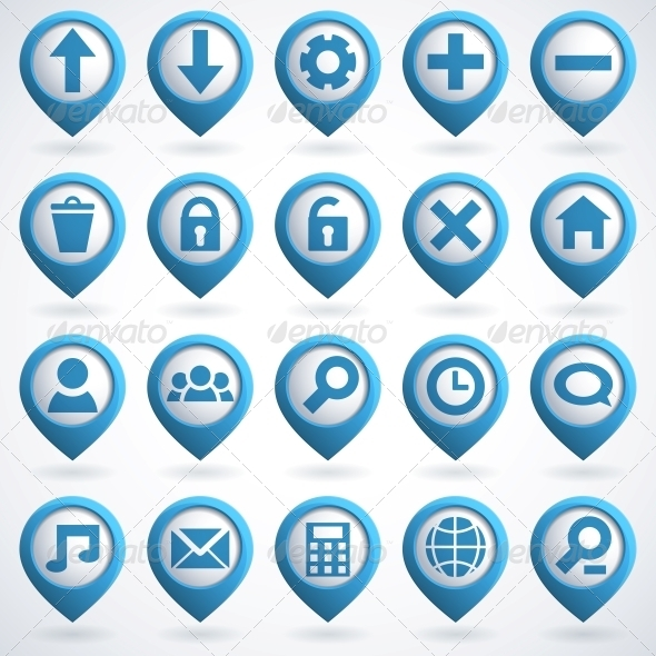 GraphicRiver Web Icon Set 4055711