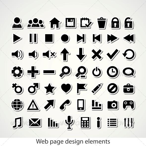 GraphicRiver Web Icon Set 4055715