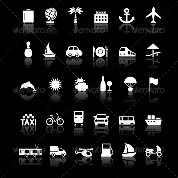 GraphicRiver Travel and transport buttons set 4055716
