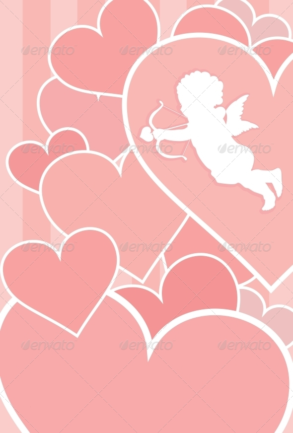 GraphicRiver Valentine Card Design 4056051