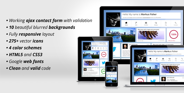 ThemeForest Frittata Responsive Personal Template 4050602
