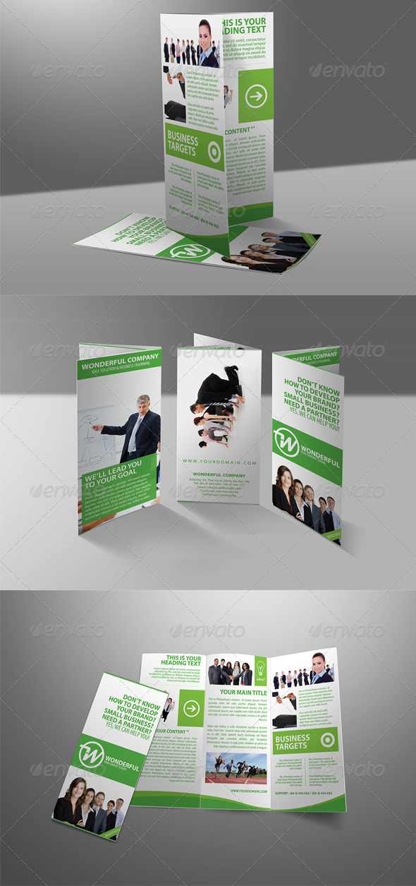 GraphicRiver Wonderful Green Brochure Tri-fold 3938767