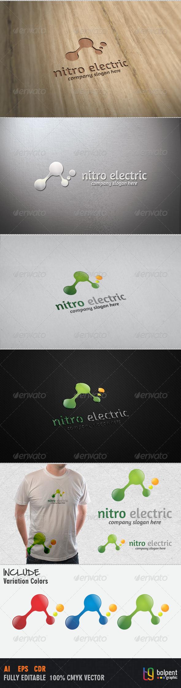 GraphicRiver Nitro Electric Logo Template 4056158