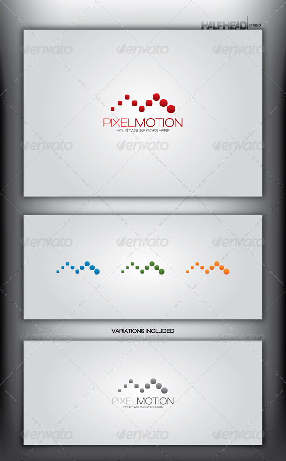 GraphicRiver PIXEL MOTION Logo Template 4056435