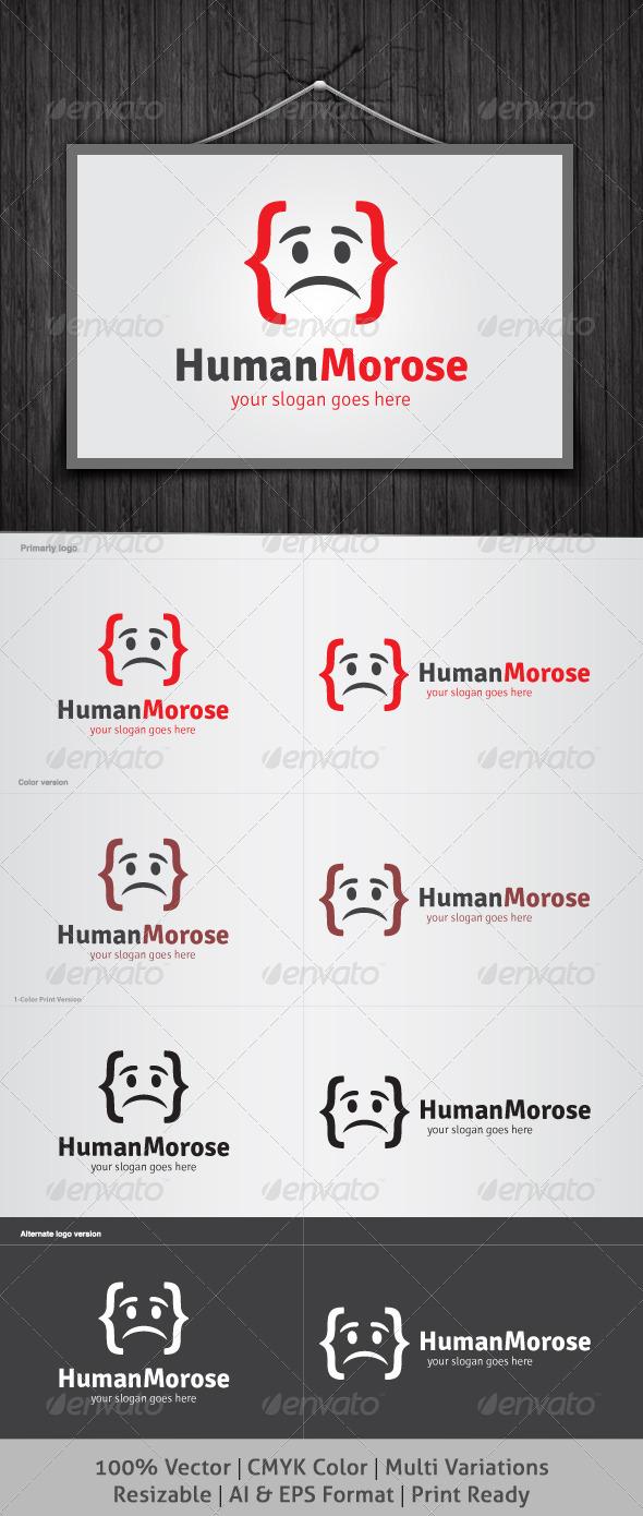 GraphicRiver Human Morose Logo 4056489