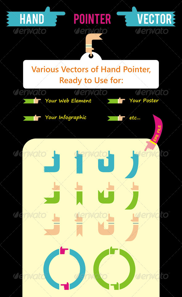 GraphicRiver Hand Pointer Vector 4056517