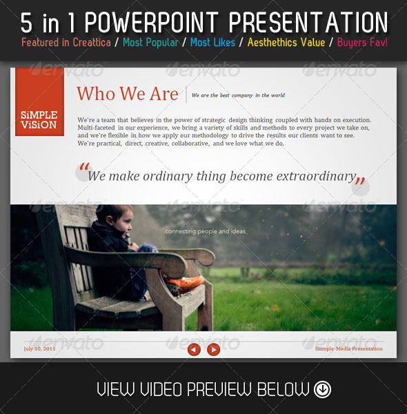 GraphicRiver 5 in 1 PowerPoint Comeback Bundle 4057035