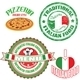 Set of authentic italian food stamp and labels - GraphicRiver Item for Sale