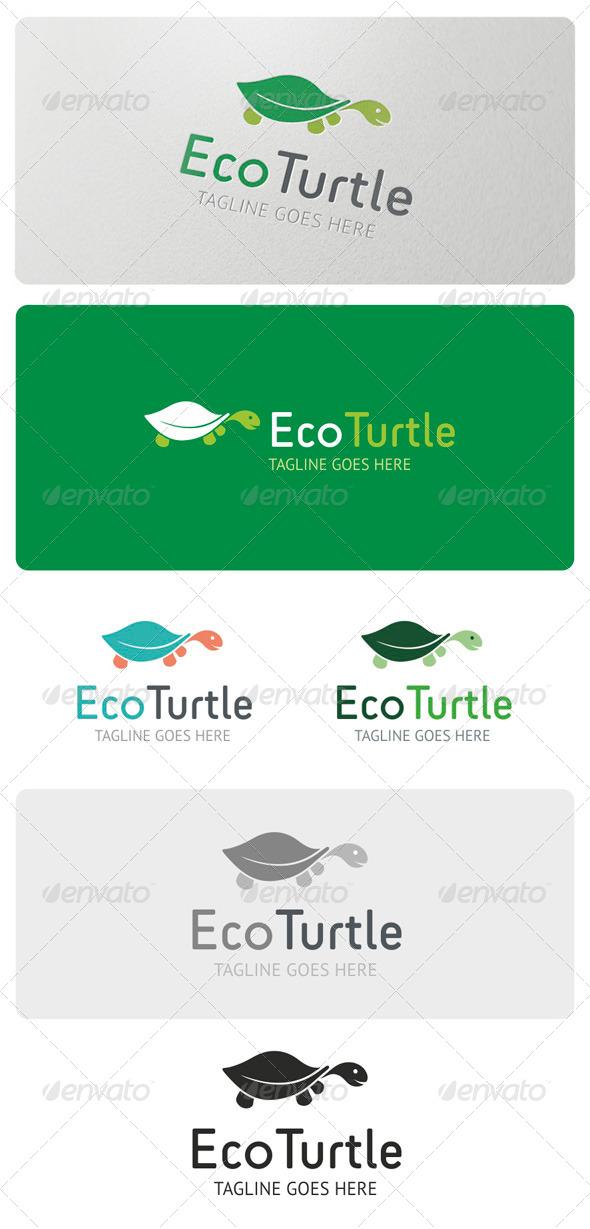 GraphicRiver Eco Turtle Logo Template 4057536