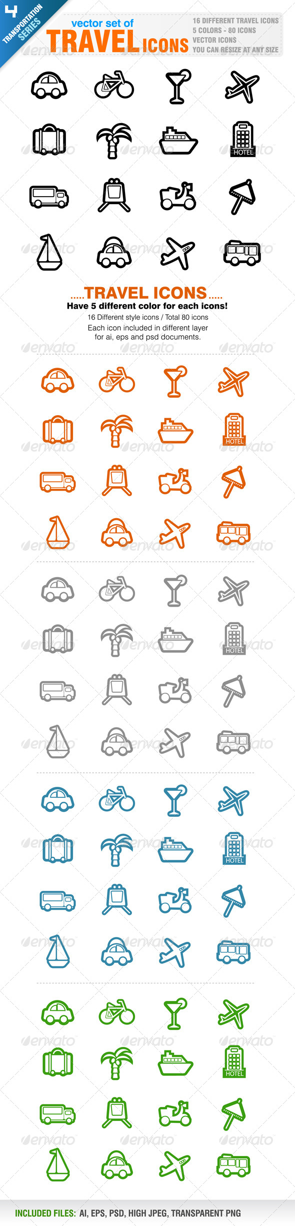GraphicRiver 80 Travel icons 4057690