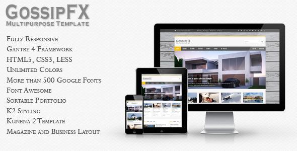 ThemeForest GossipFX Multipurpose Joomla Template 4021034