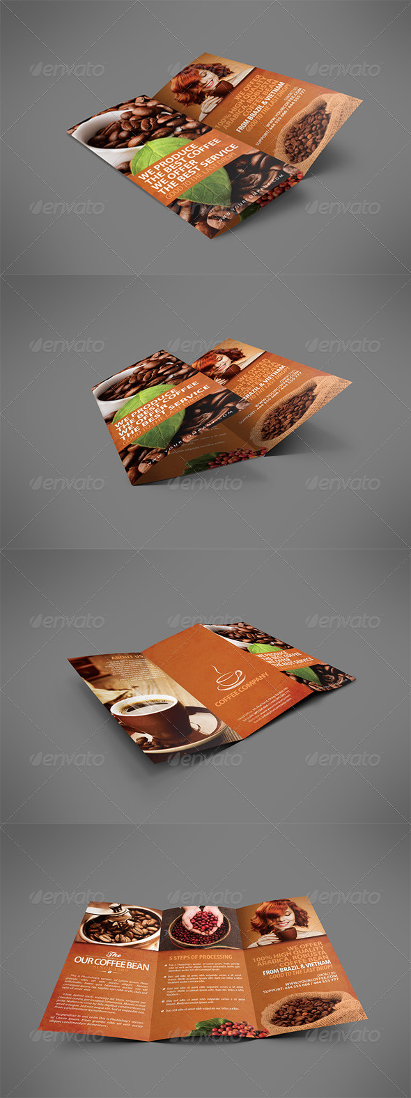 GraphicRiver Coffee Brochure Tri-fold 3947685