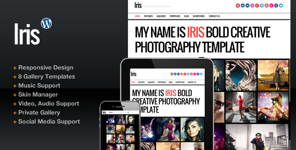 Iris Bold Photography Portfolio Theme - Photography Creative