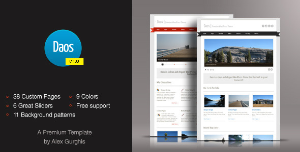 Daos - Premium HTML/CSS Template - Black RIP
