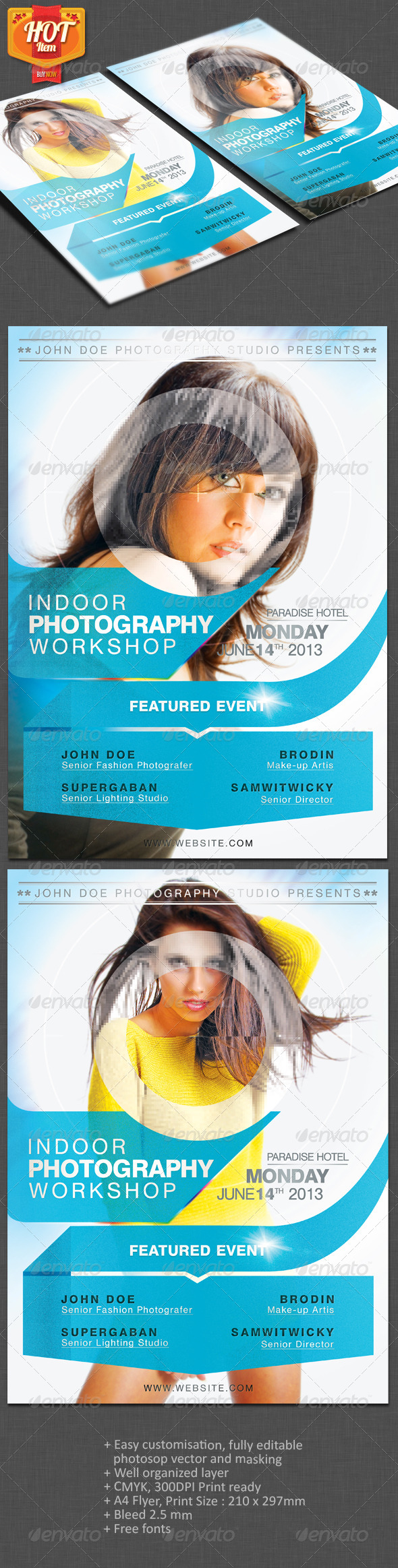 GraphicRiver Photographer A4 Flyer 3943641