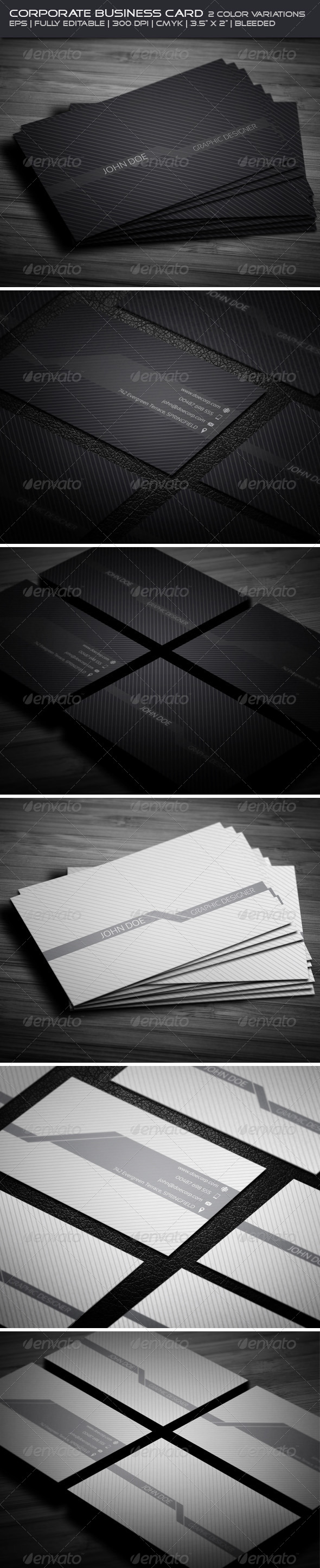GraphicRiver Corporate Business Card 4058272