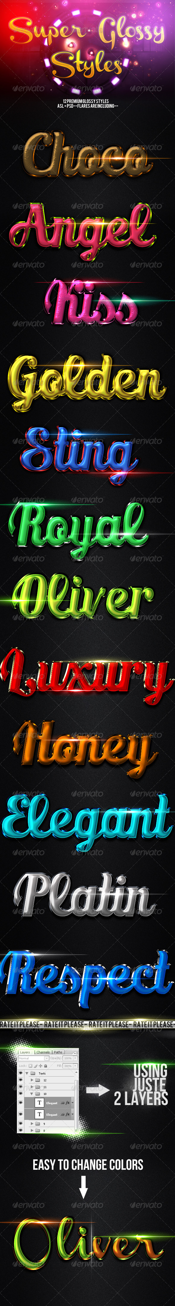 GraphicRiver Glossy Layer Styles FX 4058273