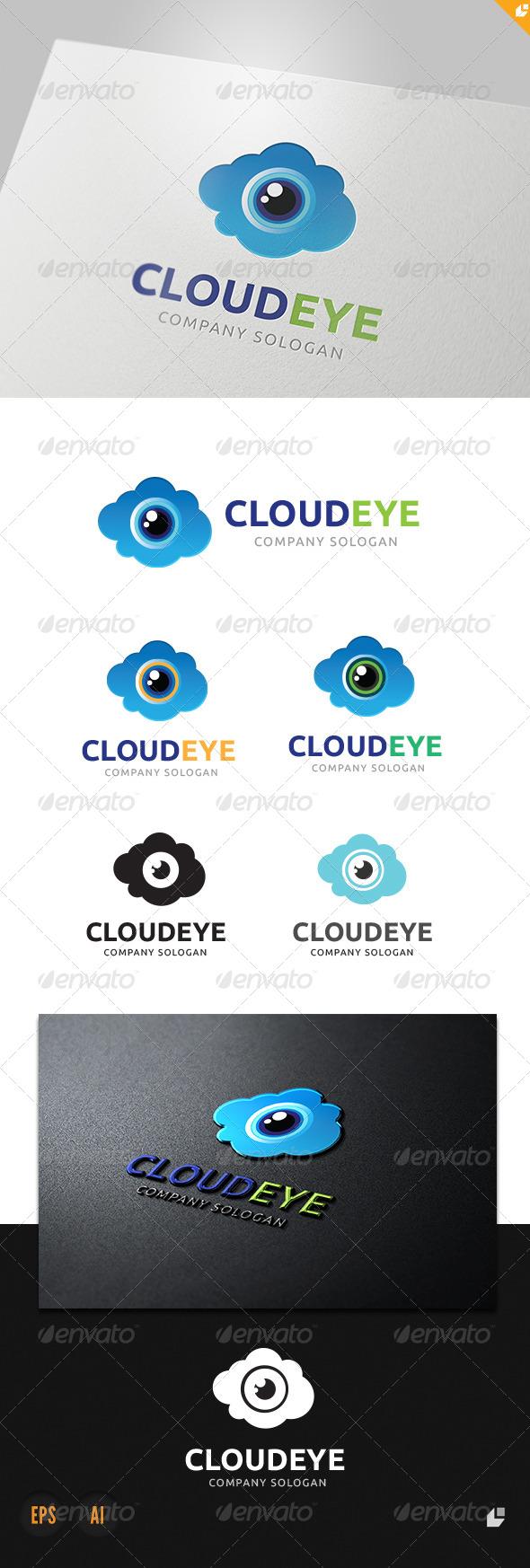 GraphicRiver Cloud Eye Logo 3950285