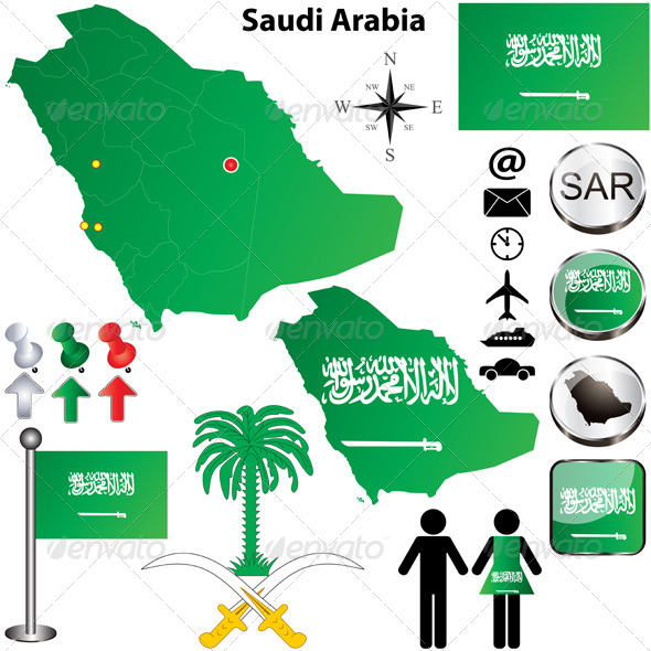 GraphicRiver Saudi Arabia map 4058326