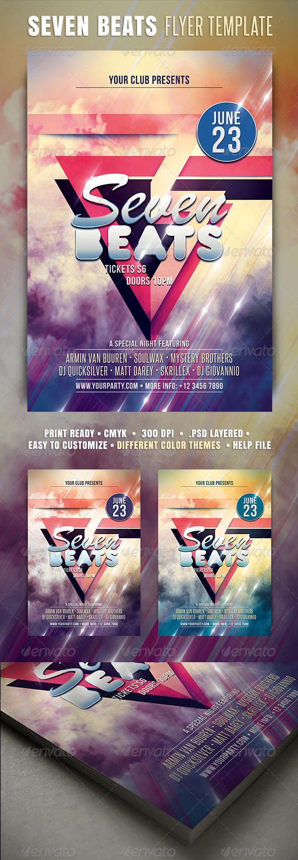 GraphicRiver Seven Beats Flyer 3911922