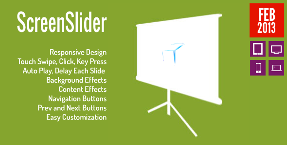 ScreenSlider Reponsive Touch Presentation