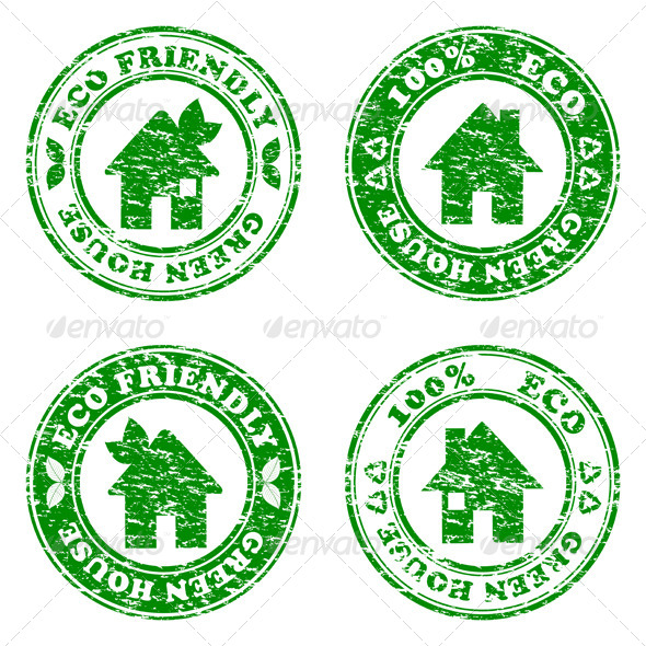 GraphicRiver Eco Friendly House Stamps 2847548