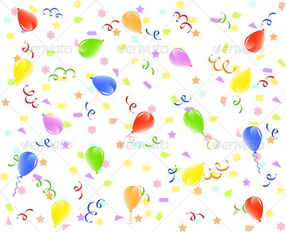 GraphicRiver Birthday Background 4058424