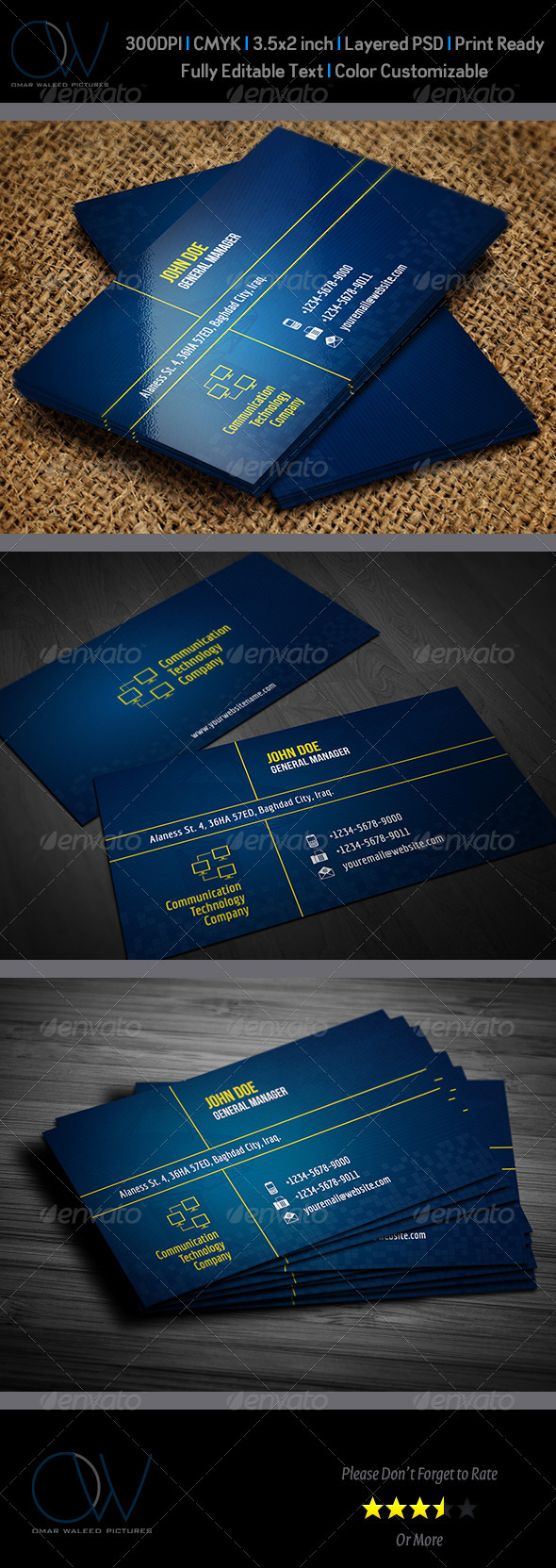 GraphicRiver Communication Technology Business Card 3944851