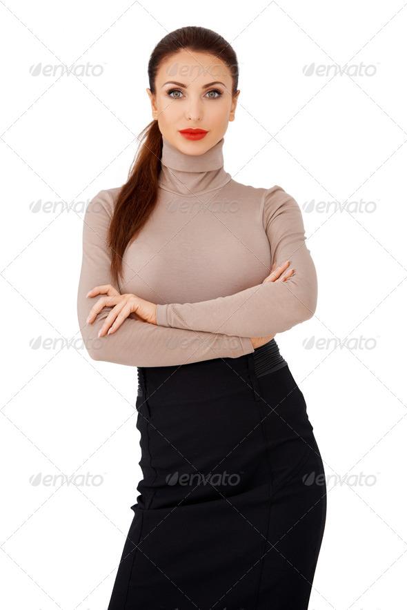 PhotoDune Glamorous brunette lady 4061278