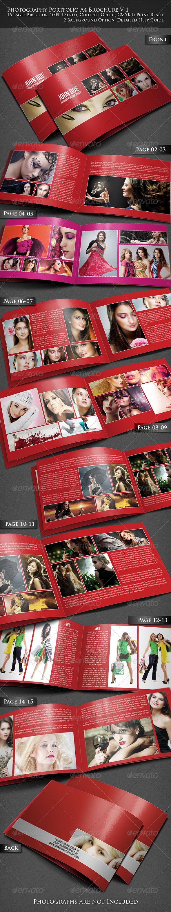 GraphicRiver Photography Portfolio A4 Brochure 3919415