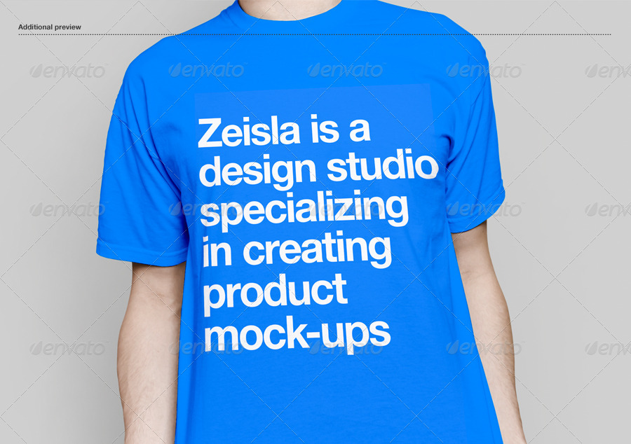 Crew neck t shirt mock up by zeisla graphicriver for Mock crew neck shirts