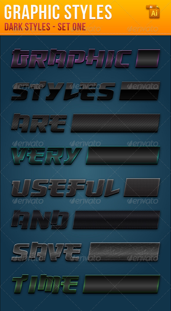 GraphicRiver Dark Styles For Illustrator 4020884