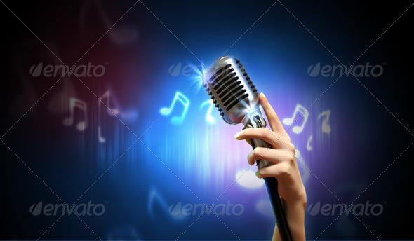 PhotoDune Audio microphone retro style 4061232